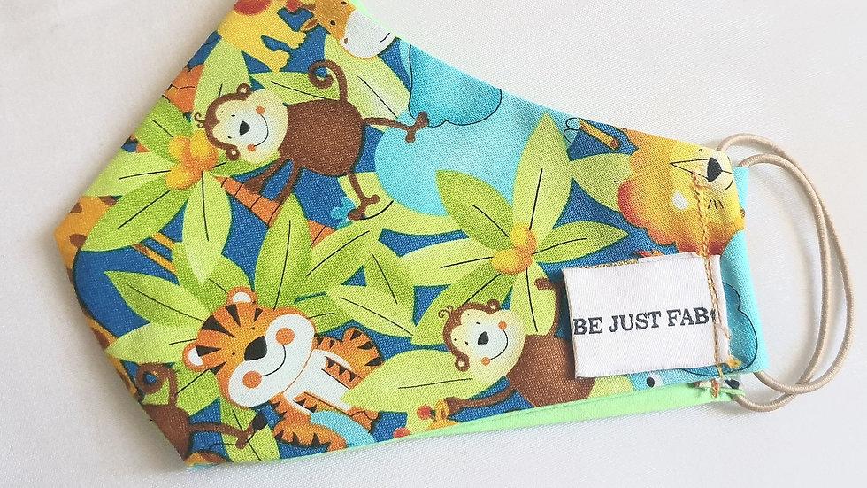 Kids Jungle Fabric Mask