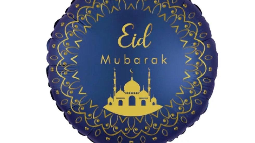 """Round 18"""" Foil Eid Mubarak Balloon"""