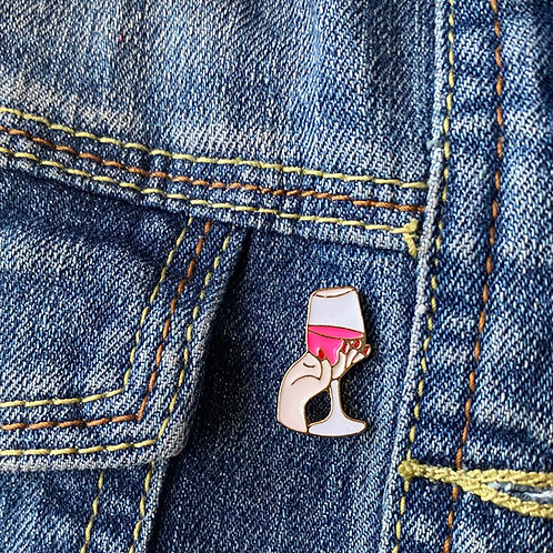 Pink Wine Enamel Pin - Limited Edition
