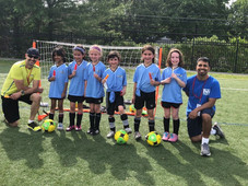 Emma's Soccer Team and I am the coach with Anish