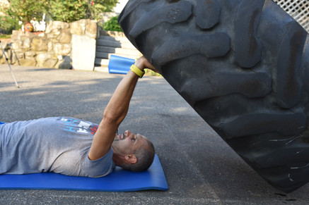 Tire Workout. Who said it will be easy?