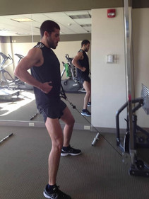 Dekel Training Hard at His Home Gym. Getting Ready for the Obsticicle Course Race