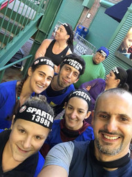 AT the Start Line with Slava's Freedom Fitness Team. But First Let Me Take A Selfi!