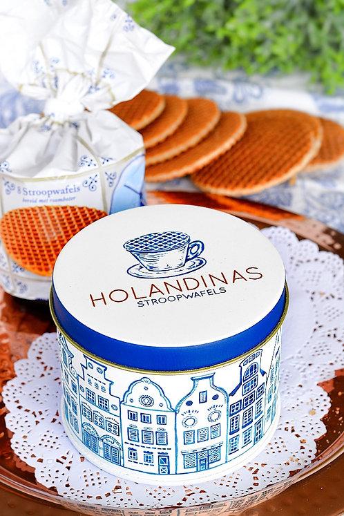 Holandinas - Lata con bolsa de 8 stroopwafels