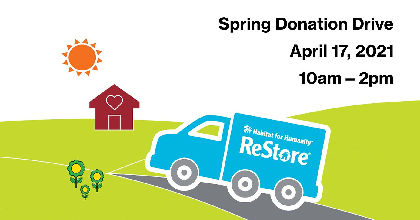 Spring ReStore Donation Drive - Graphic