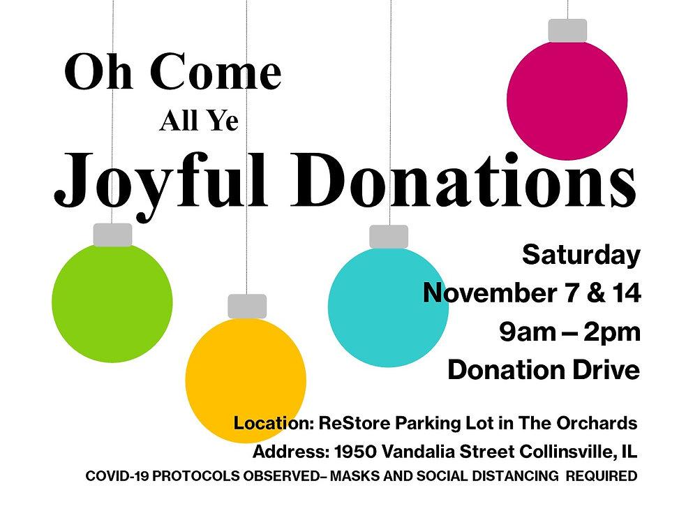 Joyful Donations Drive 2020 digital hori