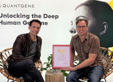 Quantgene's Founder and CEO Jo Bhakdi receives Leadership award