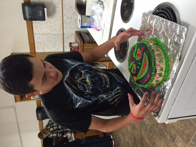 Jericho & his Halloween Monster Cake