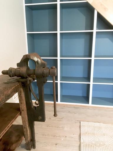 Salon - Escalier & bibliothéque sur mesure