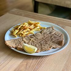 Milanesa de Ternera Gallega con Patatas Fritas