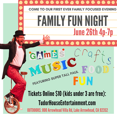 Tudor House Family & Kids Fun Nite
