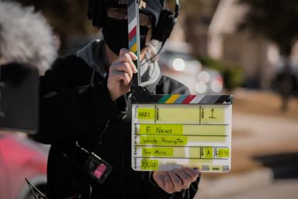 "Short film shoot, ""F NEWS."" February 2021"