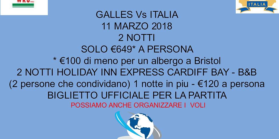 6 NAZIONI - GALLES Vs ITALIA