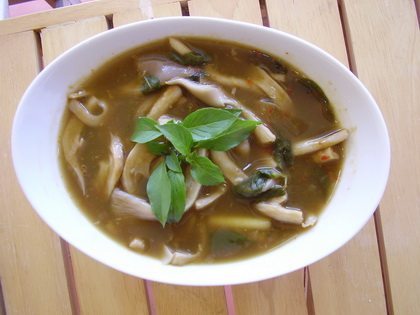 Isaan style mushroom soup