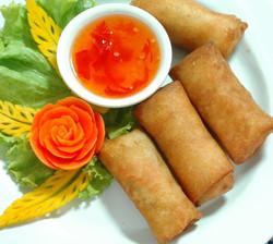 9. Vegetable spring rolls
