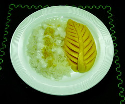 143. Sticky rice & mango