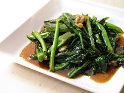 115. Kale with oyster sauce