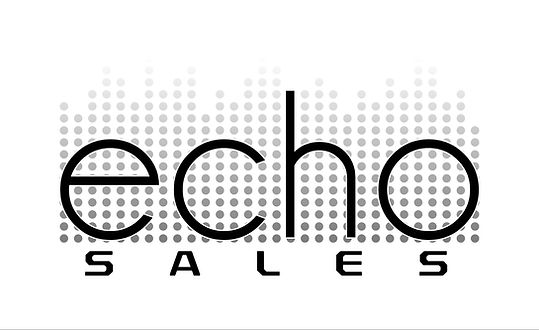 echo sales logo black with white backgro