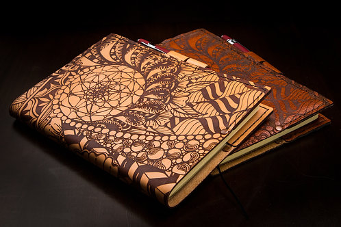 Swirl of Life - Medium Leather Journal