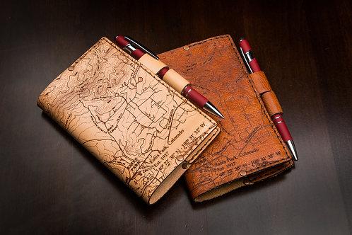 Estes Park Topo Map - Small Leather Journal
