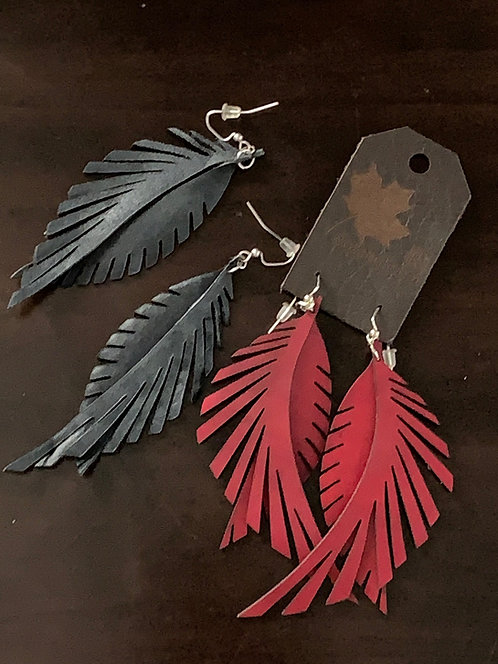 "Leather Feathers ""Wispy"""