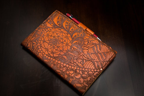 Swirl of Life - Small Leather Journal