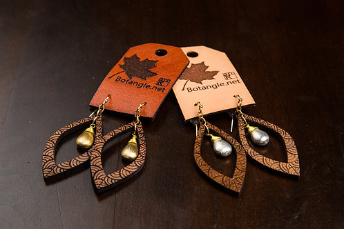 Leaf & Stone Earrings