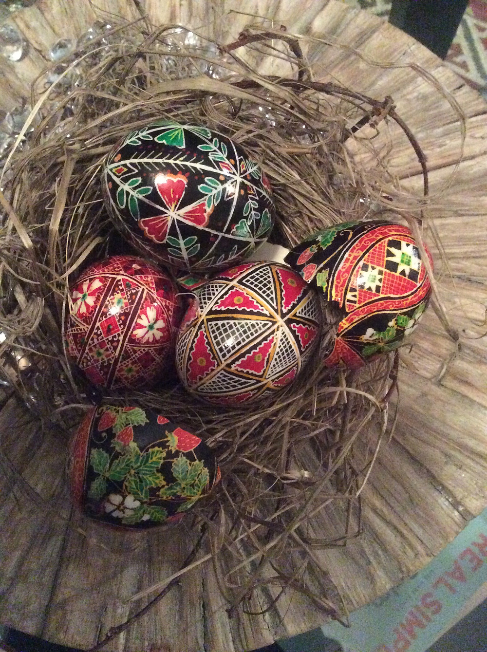 Some of my favorite Pysanky that I unfortunately broke!