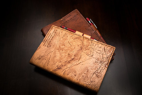 Estes Park Topo Map - Medium Leather Journal