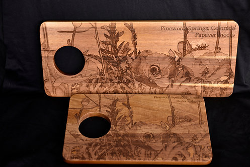 Pinewood Poppies Serving Board