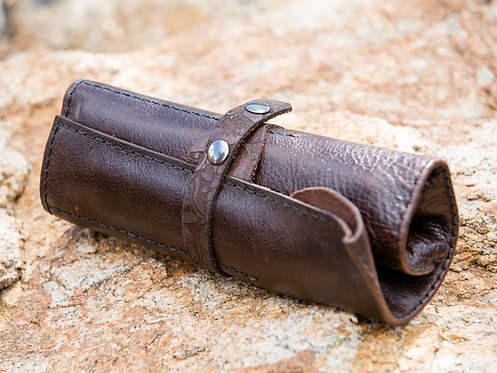 Hand-sewn Leather Pencil Roll