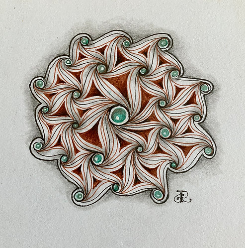 Crazy Cadent Zentangle® Zoom Session 10/18