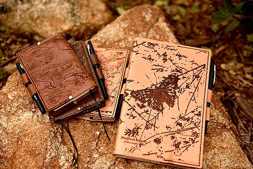 Hackberry Butterfly - Medium Leather Journal