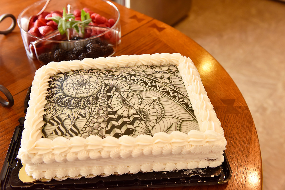 My custom-ordered Zentangle cake.