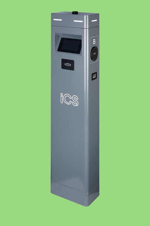 ICS Intelligent Twin Pedestal Charger 2x 22kW AC