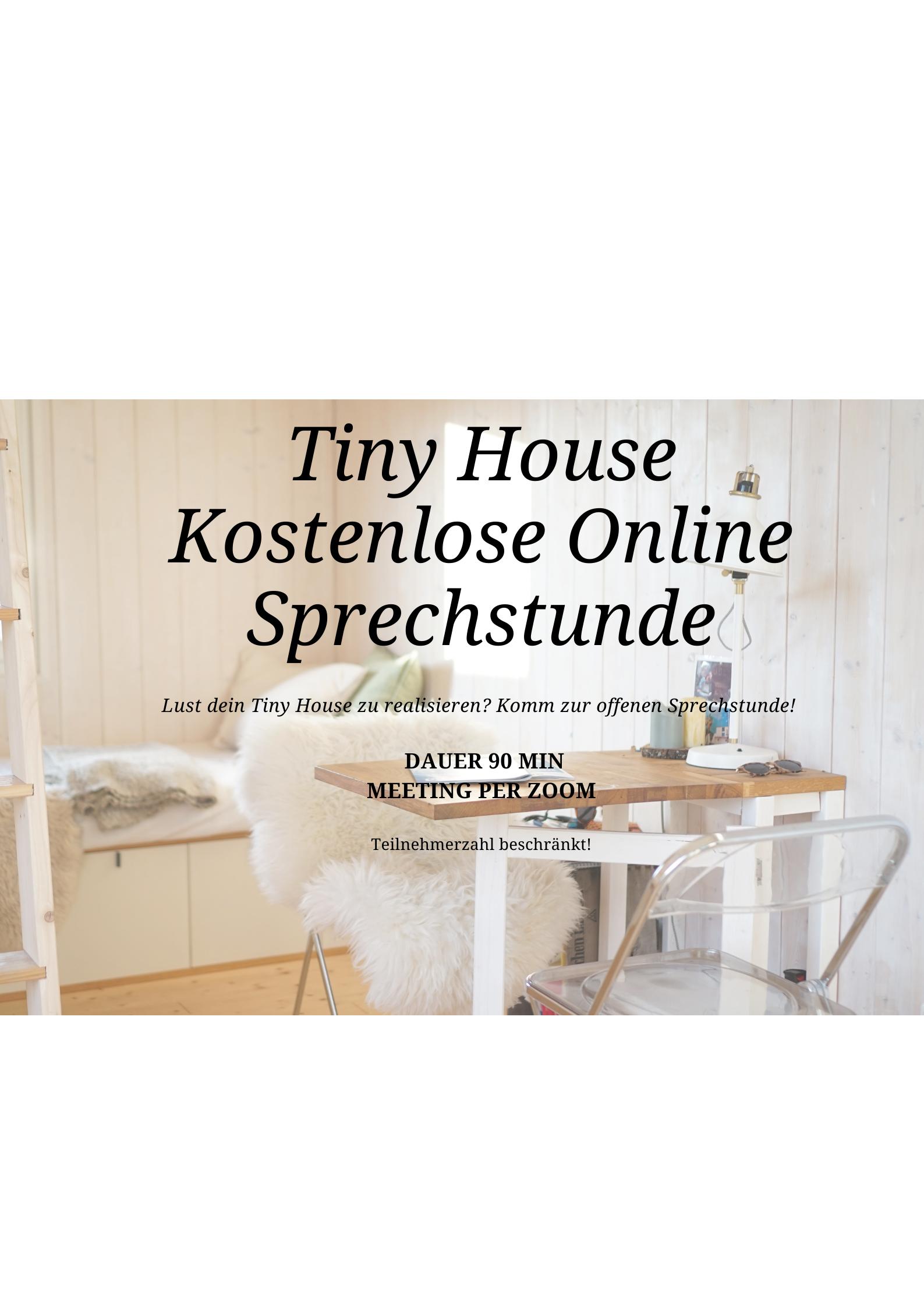 Kostenlose Tinyhouse Sprechstunde
