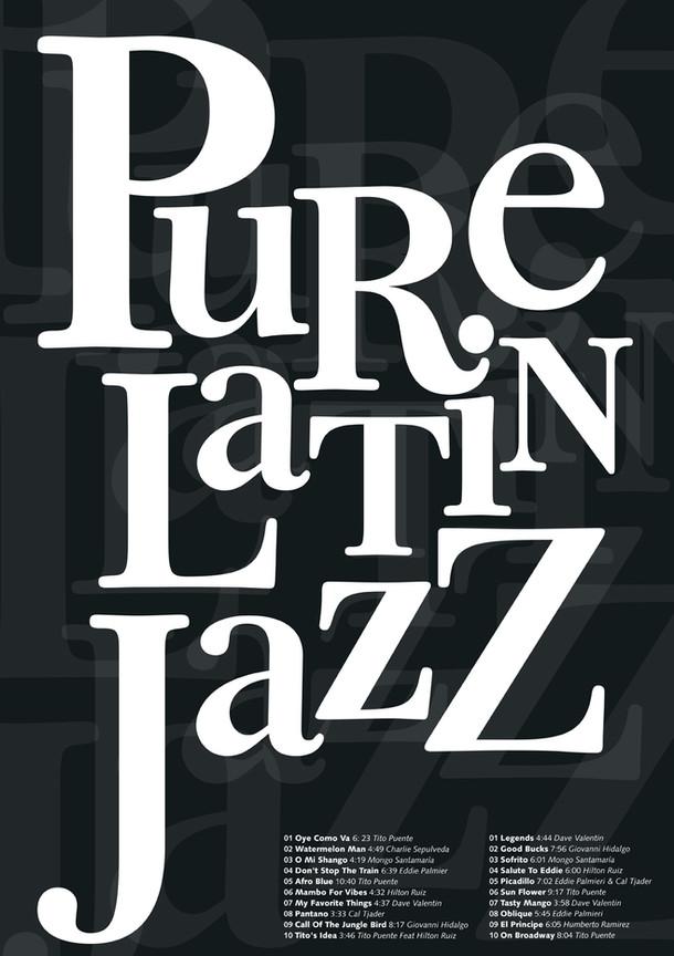 CD booklet poster / poster tipográfico para interior de cd