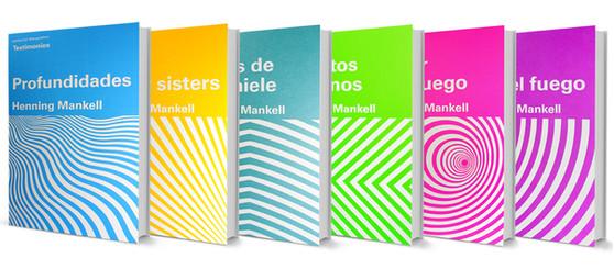 Book cover designs for H. Mankell collection / diseño de portadas de colección de libros