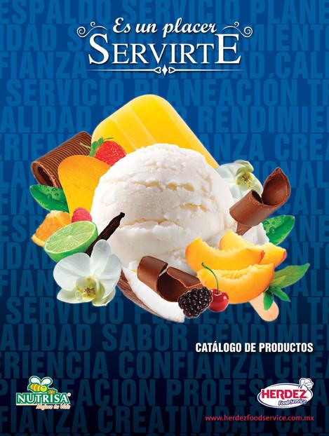 Proposal for ice cream catalogue cover / propuesta para portada de catálogo de helados