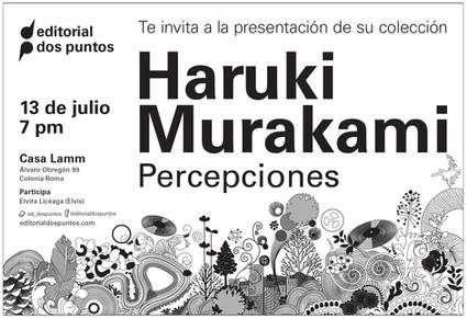 Newspaper ad for H.Murakami book collection launch event / diseño de anuncio en periódico para evento de lanzamiento de colección de libros