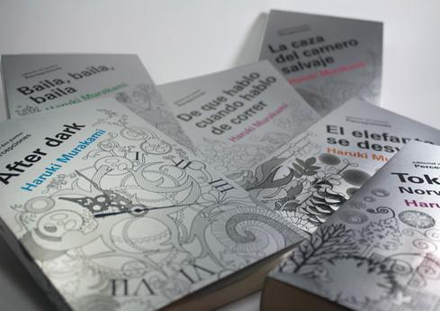 Book cover designs for H.Murakami collection / diseño de portadas de colección de libros