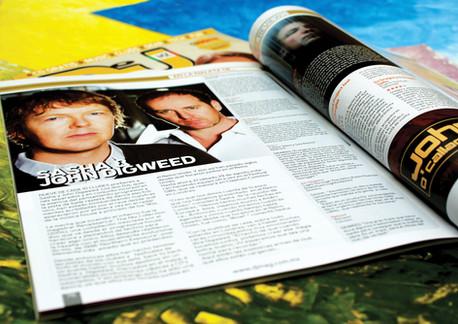 Editorial design for electronic music magazine / diseño editorial para DJ Mag México