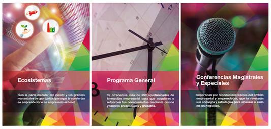 Design of separators for startups business program catalogue / Separadores de catálogo para programa de Semana Nacional del Emprendedor 2015