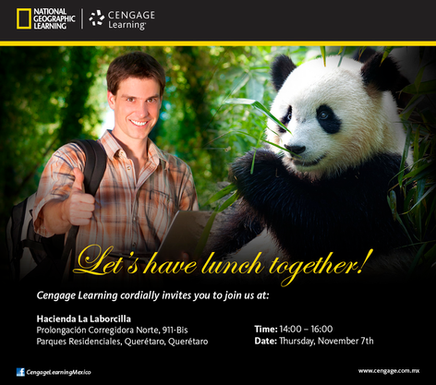 Design for mailing invitation / diseño de invitación National Geographic Cengage