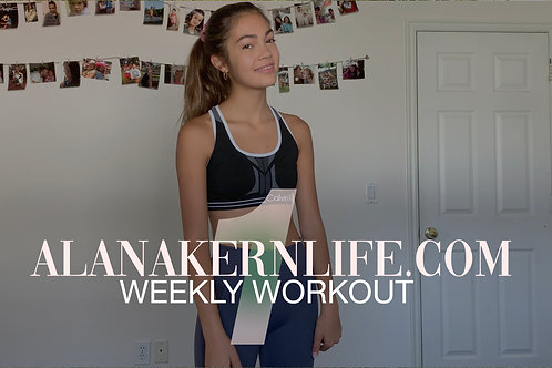 Weekly Workout Video 1