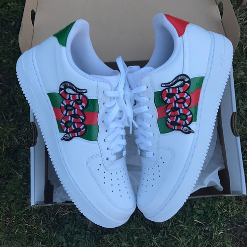 GUCCI SNAKE NIKE AIR FORCE ONE 1 LOW – NIKE AIR FORCE 1 GUCCI ACE SNAKE EMBROIDE