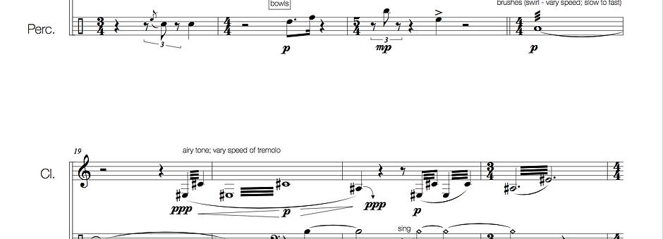 The Rainy Season (clarinet + euphonium + percussion)