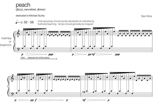 Ten pieces from Orchard (marimba or vibraphone)