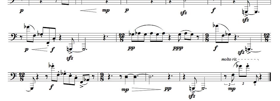 Fragments for solo euphonium: Set I (summer)