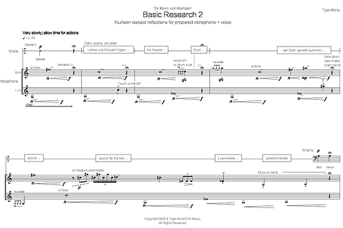 Basic Research 2 (vibraphone + voice)